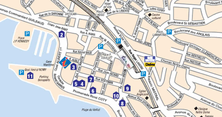 St Raphael France Map.Map Of The Town