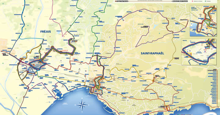 St Raphael France Map.Maps